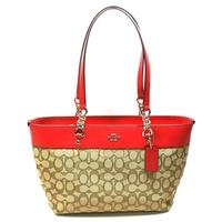 CoachSignature Small Sophia Tote True Red