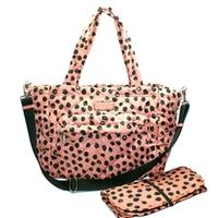 Marc By Marc JacobsSpring Peach Multi Dots Nylon Diaper Bag/ Tote