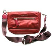 Marc By Marc JacobsMerlot Red Nylon Swing/ Cross Body Bag/ Clutch