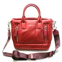 Marc By Marc JacobsMerlot Red Nylon Swing/ Cross Body Bag/ Satchel