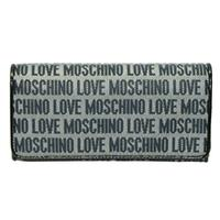 MoschinoSignature Navy Flap Wallet/ Clutch