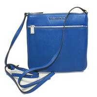 Michael KorsRiley Genuine Leather Flat Crossbody Bag Electric Blue