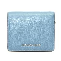 Michael KorsMercer Leather Carryall Card Case Wallet/ Clutch Denim