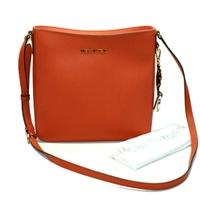 Michael KorsJet Set Travel Orange Leather Messenger/ Crossbody Bag